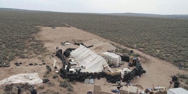Platsen där barnen hittades. Karl Brennan / TT / NTB Scanpix