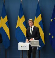 Märta Stenevi och Per Bolund. Robin Ek / TT / TT NYHETSBYRÅN