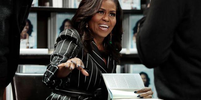 Michelle Obama. Richard Drew / TT NYHETSBYRÅN/ NTB Scanpix