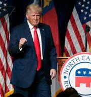 Donald Trump talar inför republikaner i North Carolina i helgen. Chris Seward / TT NYHETSBYRÅN