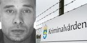 Kristofers Kastellanoss samt skylt utanpå Kriminalvårdens anstalt i Mariefred. Interpol/TT.