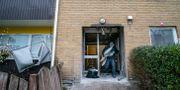 Uppröjning efter en explosion i ett flerfamiljshus i Almgården i Malmö den 2 november. Johan Nilsson/TT / TT NYHETSBYRÅN