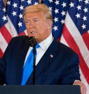 Trump under sitt på onsdagsmorgonen Evan Vucci / TT NYHETSBYRÅN