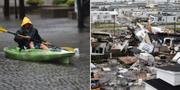 Översvämningar i South Carolina/Förödelse i North Carolina. TT