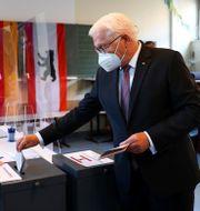 Frank-Walter Steinmeier röstar. Kai Pfaffenbach / TT NYHETSBYRÅN