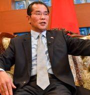 Kinas ambassadör Gui Congyou.  Jonas Ekströmer/TT / TT NYHETSBYRÅN
