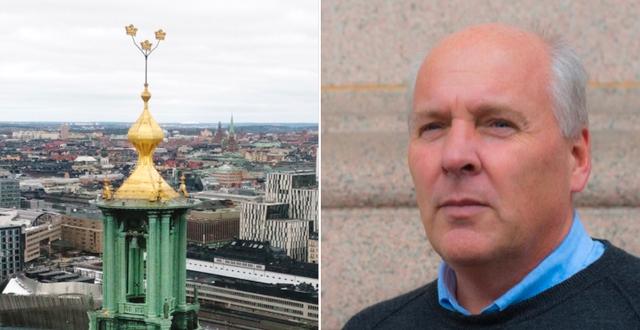 SD:s gruppledare i Stockholm, Peter Wallmark, menar att han inte gjort något fel  Sverigedemokraterna/TT