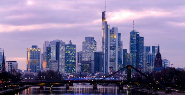 Arkivbild: Finanskvarteren i Frankfurt, Tyskland Kai Pfaffenbach / TT NYHETSBYRÅN