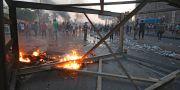 Bild från protesterna i Irak.  AHMAD AL-RUBAYE / AFP