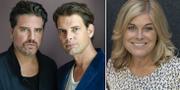 Arkivbilder. Sigge Eklund, Alex Schulman, Pernilla Wahlgren. TT