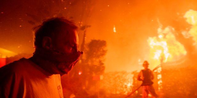 Omfattande skogsbränder i Los Angeles. Christian Monterrosa / TT NYHETSBYRÅN