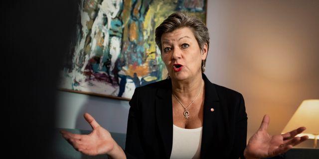 Arbetsmarknadsminister Ylva Johansson. Naina Helén Jåma/TT / TT NYHETSBYRÅN