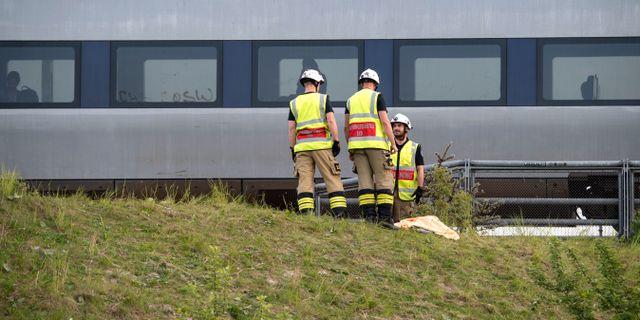 I veckan fastnade i ett tåg i Hyllie efter problem med elförsörjningen. Johan Nilsson/TT / TT NYHETSBYRÅN