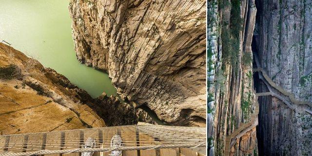 El Caminito del Rey har kallats världens farligaste gångväg – och är nu öppen för säsongen.  Wikicommons
