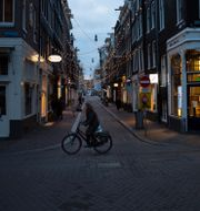 Amsterdam under pandemin. Peter Dejong / TT NYHETSBYRÅN