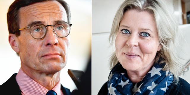 Ulf Kristersson och Camilla Waltersson Grönvall. TT