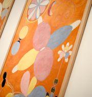 """Från utställningen """"Hilma af Klint - abstrakt pionjär"""" på Moderna museet i Stockholm 2013.  PONTUS LUNDAHL/TT"""