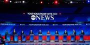 Det demokratiska startfältet i den förra debatten, som ägde rum den 12 september i Houston. David J. Phillip / TT NYHETSBYRÅN
