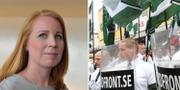 Centerpartiets partiledare Annie Lööf/NMR demonstrerar i Ludvika på 1 maj TT NYHETSBYRÅN