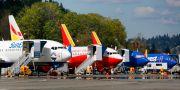 Boeing 737 Max-plan vid anläggningen i Renton, Washington, i april. JASON REDMOND / TT NYHETSBYRÅN