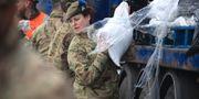Militär på plats i West Yorkshire, Storbritannien. Danny Lawson / TT NYHETSBYRÅN