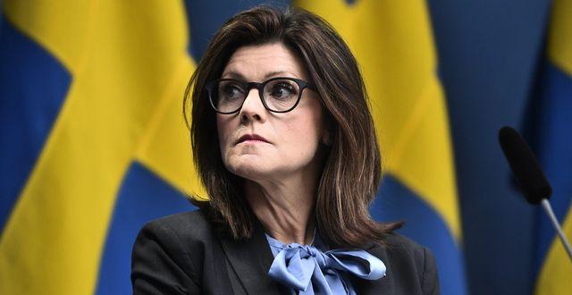 Arbetsmarknadsminister Eva Nordmark (S).  Ali Lorestani/TT