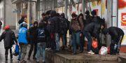 Flyktingar i Horgoš i Serbien 28 januari 2020.  Edvard Molnar / TT NYHETSBYRÅN