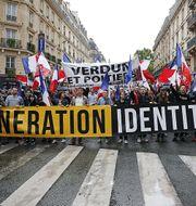 Génération Identitaire under en demonstration. Arkivbild. Wikimedia/