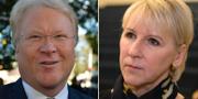 Lars Adaktusson (KD) och utrikesminister Margot Wallström (S). TT