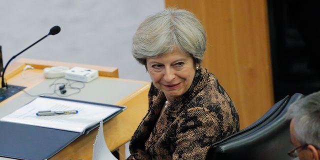 Theresa May.  LUCAS JACKSON / TT NYHETSBYRÅN