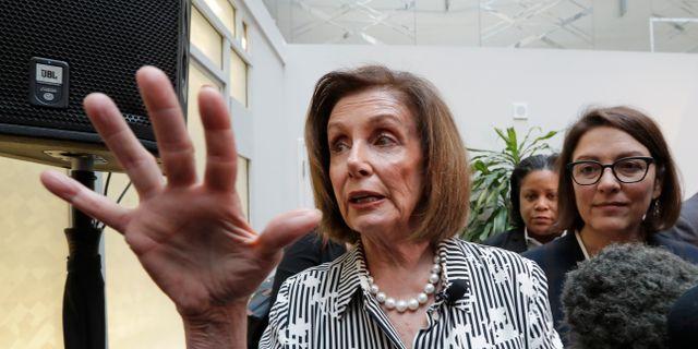 Nancy Pelosi.  Elaine Thompson / TT NYHETSBYRÅN