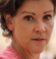 Lottie Knutson/städare på flygplats i Cypern.  TT