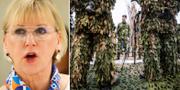 Margot Wallström och överbefälhavare Micael Bydén. TT