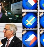 Cecilia Malmström/Federica Mogherini och Jean-CLaude TT