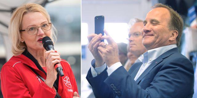 Heléne Fritzon och Stefan Löfven. Arkvibilder.  TT.