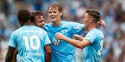 Hugo Andersson gjorde mål i sin första match från start. Andreas Hillergren/TT / TT NYHETSBYRÅN