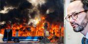 Bussbranden i Stockholm den 10 mars/Tomas Eneroth (S). Christofer Dracke och TT