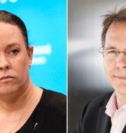 Maria Wetterstrand och Joacim Olsson. TT, Press
