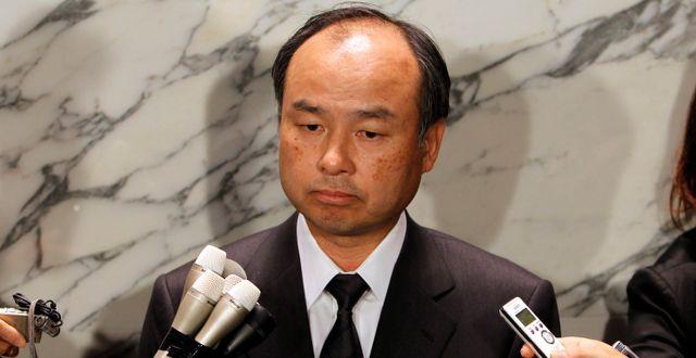 Softbanks grundare och vd Masayoshi Son. Shuji Kajiyama / TT NYHETSBYRÅN