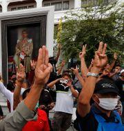 Demonstration i Bangkok TT NYHETSBYRÅN