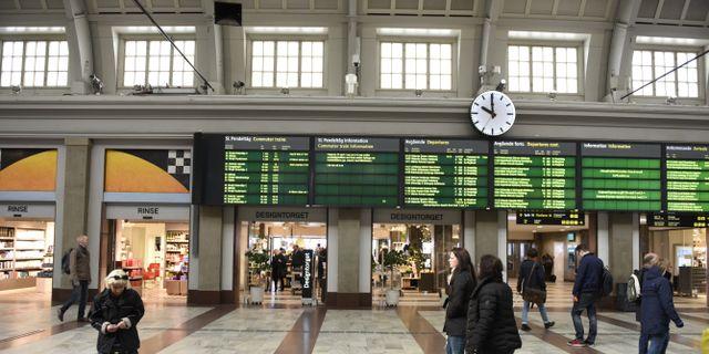 Arkivbild: Stockholm Central Pontus Lundahl/TT / TT NYHETSBYRÅN
