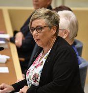 Annelie Karlsson, gruppledare i riksdagen (S). Henrik Montgomery/TT / TT NYHETSBYRÅN