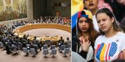 FN:s säkerhetsråd/demonstration för Venezuela i Madrid. TT