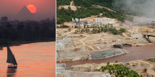 Nilen och dammbygget i Etiopien. TT
