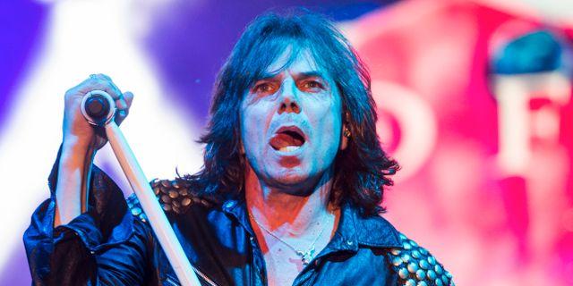 Joey Tempest i bandet Europe. Zsolt Szigetvary / TT NYHETSBYRÅN