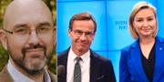 Magnus Hagevi/Ulf Kristersson och Ebba Busch Thor. Linnéuniversitet/TT.