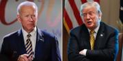 Joe Biden och Donald Trump. Arkivbilder. TT