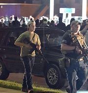 17-åringen Kyle Rittenhouse som senare greps för att ha skjutit ihjäl två personer. Adam Rogan / TT NYHETSBYRÅN