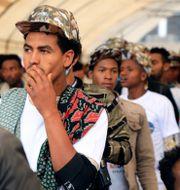 Ungdomar går med i Etiopiens armé efter uppmaningen från premiärministern. TT NYHETSBYRÅN