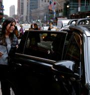 Illustrationsbild: Kvinna tar en taxi i New York. Jefferson Siegel / TT NYHETSBYRÅN